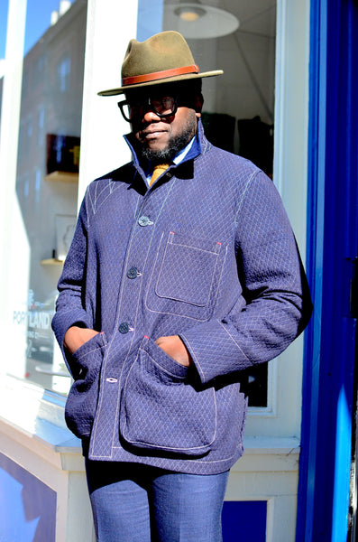 "BARN ""BIG BRO"" COAT W/ BLANKET WOOL LINING  (DEEP NAVY)"