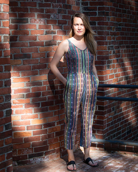 DELHI JUMPSUIT - MULTICOLOR STRIPES