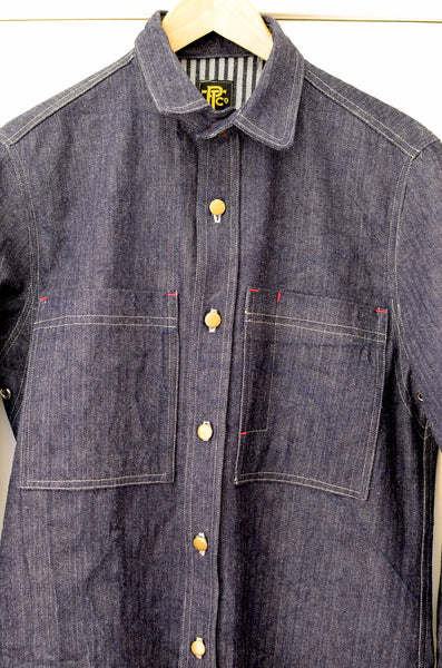 DENIM OVERSHIRT - HERRINGBONE / HICKORY STRIPE