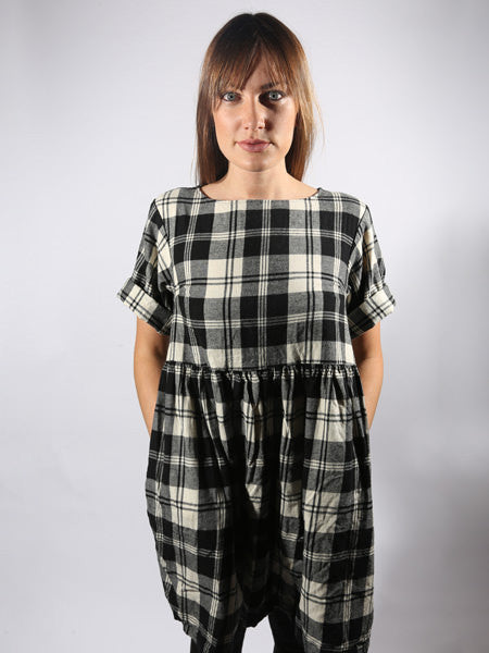ESBY APPAREL - WILLOW BABYDOLL DRESS - PLAID