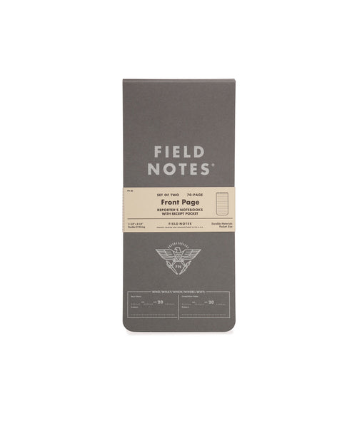 FIELD NOTES - FRONT PAGE