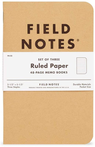 FIELD NOTES - RULED PAPER
