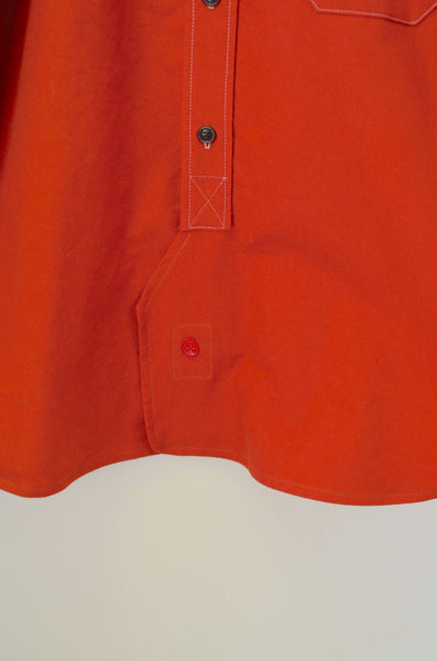 OFFICER'S LOUNGE FLANNEL SHIRT - HUNTER'S ORANGE