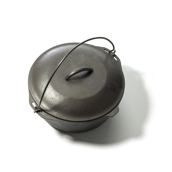 FULLY RESTORED CAST IRON COOKWARE - DUTCH OVEN (LODGE)