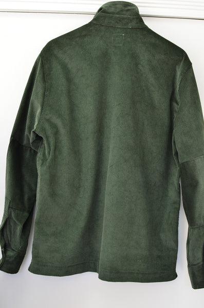 GEORGE P. POPOVER CORDUROY WORK SHIRT JACKET (GREEN)