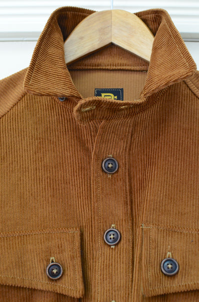 GEORGE P. POPOVER CORDUROY WORK SHIRT JACKET (BROWN)