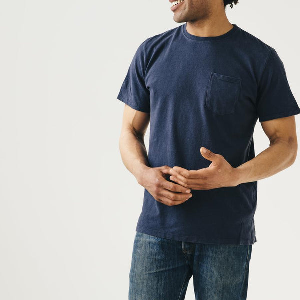 JUNGMAVEN - BAJA POCKET TEE (NAVY)