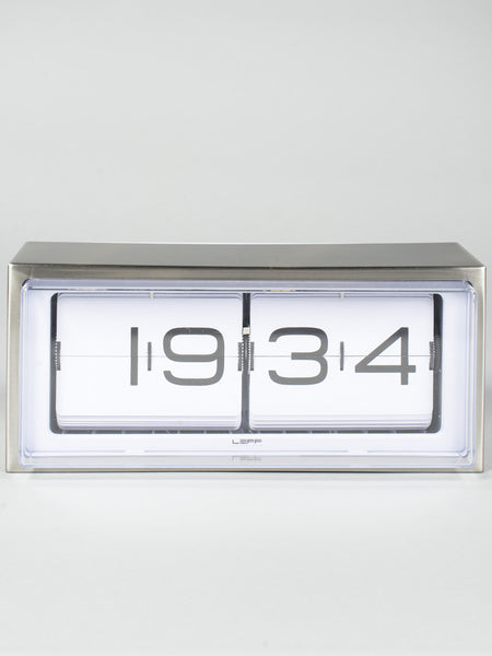 LEFF AMSTERDAM - BRICK CLOCK - STEEL WHITE