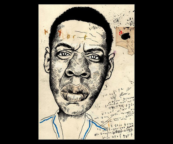 LEWIS ROSSIGNOL - JAY Z DELUXE LIMITED EDITION FINE ART  PRINT W/ AUGMENTED REALITY ANIMATION (30 PRINTS)