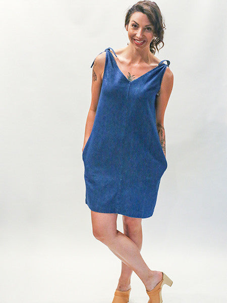 LOUP - INDIGO SLATE DRESS