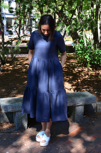 MAKER - LAURA DRESS (NAVY)