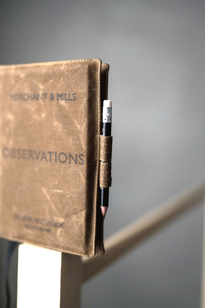 MERCHANT & MILLS - OBSERVATIONS NOTEBOOK (CANVAS OILSKIN)