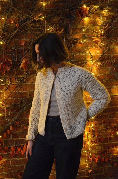 NORN - CROCHET SWEATER (CREAM)