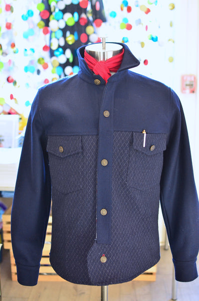 OFFICER'S DECK CPO JACKET - 2 TONE (NAVY)