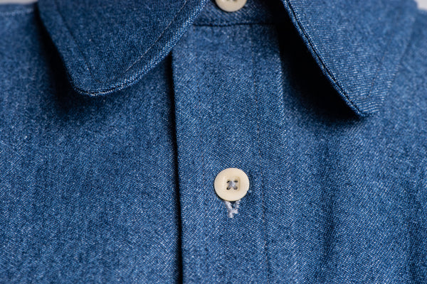 OLIVIA WORK SHIRT - DENIM BLUE