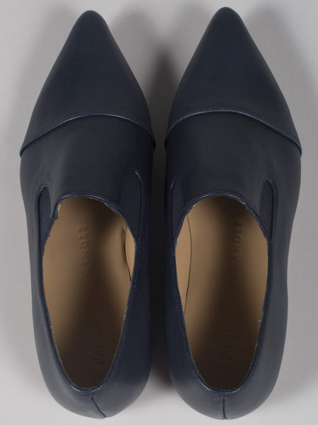 PAOLA HERNANDEZ - POINTED TOE LOAFER (NAVY)