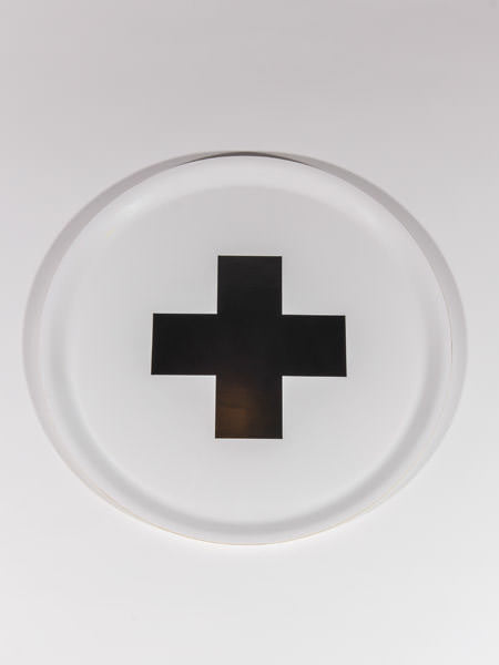 PIA WALLEN - CROSS TRAY WHITE (BLACK CROSS)