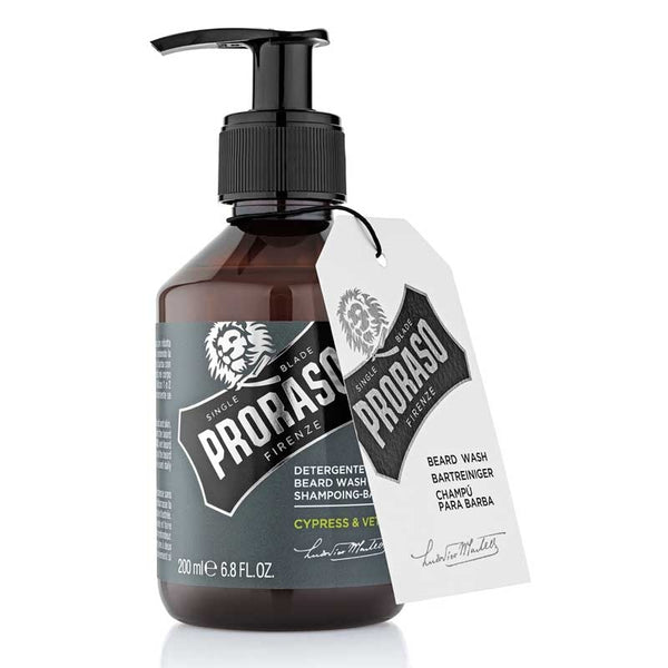 PRORASO - SINGLE BLADE - BEARD WASH (CYPRESS & VETYVER)