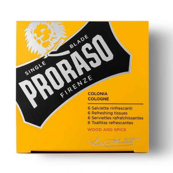 PRORASO - COLOGNE TOWELETTES (WOOD & SPICE)