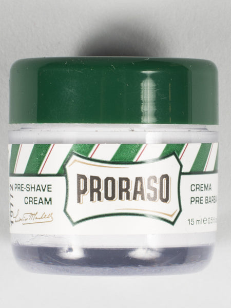 PRORASO PRE-SHAVE CREME (MINI / TRAVEL SIZE) - GREEN - REFRESHING & TONING (15ML)