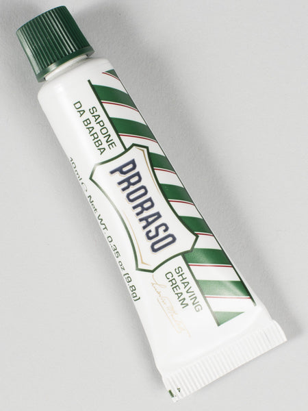 PRORASO SHAVING CREAM (MINI / TRAVEL SIZE) - GREEN - REFRESHING & TONING (10ML)