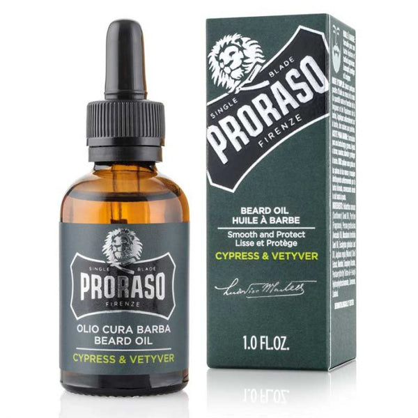 PRORASO - SINGLE BLADE - BEARD OIL (CYPRESS & VETYVER)