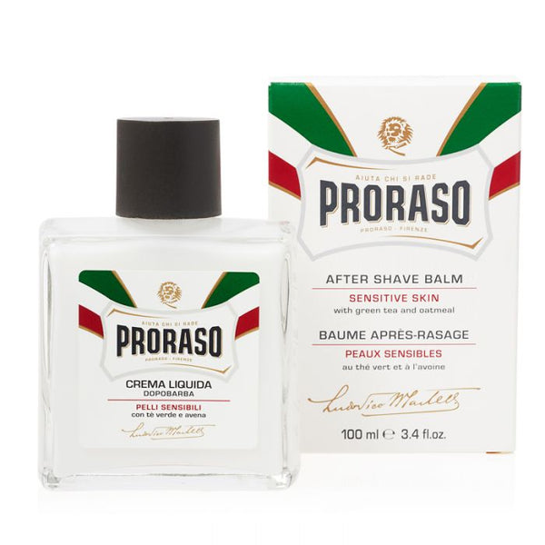 PRORASO AFTER SHAVE BALM - WHITE - PREVENTS RAZOR BURN (100ML)