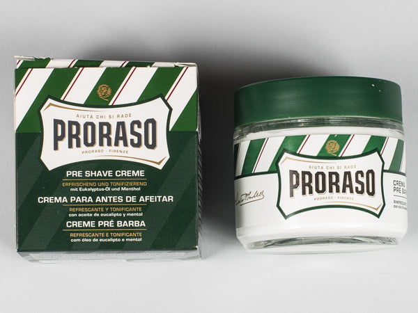 PRORASO PRE-SHAVE CREME - GREEN - REFRESHING & TONING (100ML)