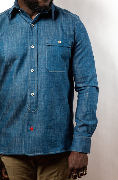PTC OFFICER'S LOUNGE SHIRT - DENIM BLUE