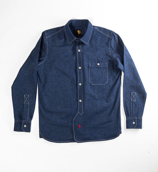 PTC OFFICER'S LOUNGE SHIRT - DEEP INDIGO DYE