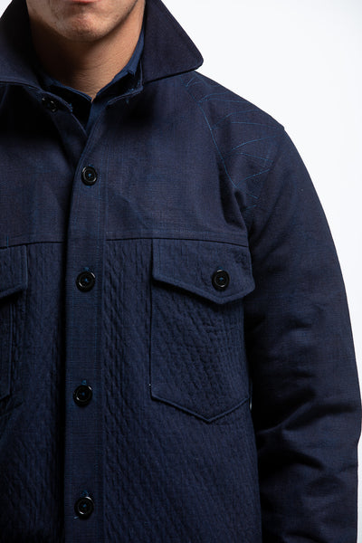 PTC CPO SHIRT JACKET - DEEP NATURAL INDIGO DYE