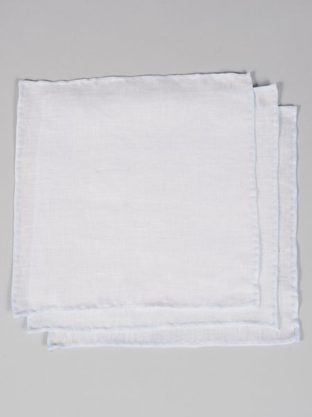PTC IRISH LINEN HANDKERCHIEF (SET OF 3) - BLUE