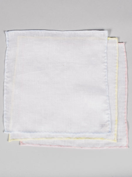 PTC IRISH LINEN HANDKERCHIEF (SET OF 3) - MULTI COLOR