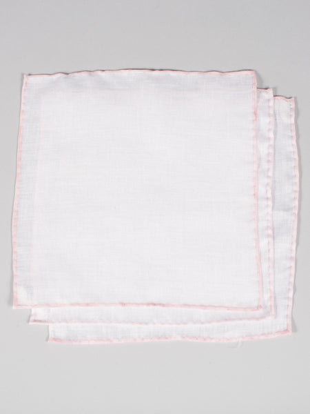 PTC IRISH LINEN HANDKERCHIEF (SET OF 3) - PINK