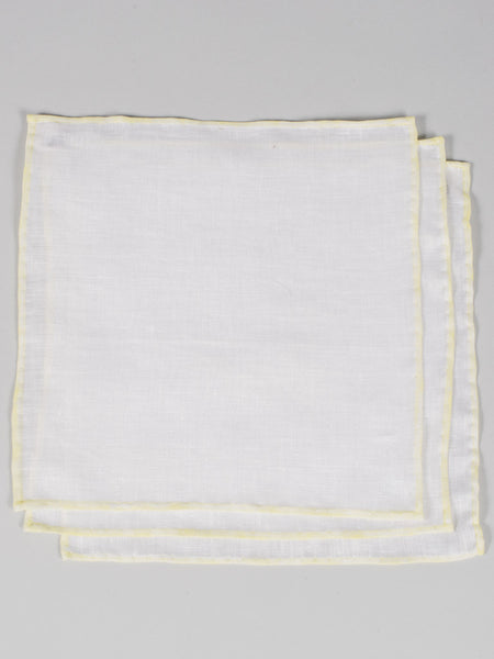 PTC IRISH LINEN HANDKERCHIEF (SET OF 3) - YELLOW
