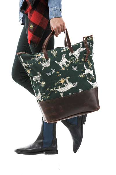 PTC TOTE BAG - LL BEAN HUNTING CANVAS / BROWN LEATHER