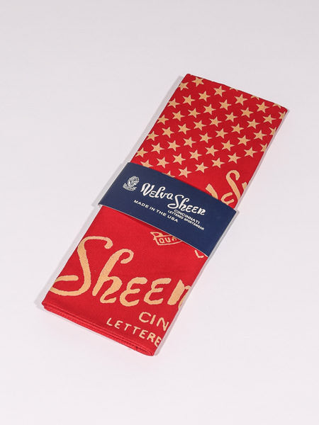 VELVA SHEEN - BANDANA STAR (RED)