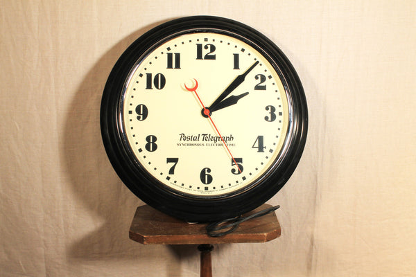 Postal Telegraph- Synchronous Electric Time Wall Clock