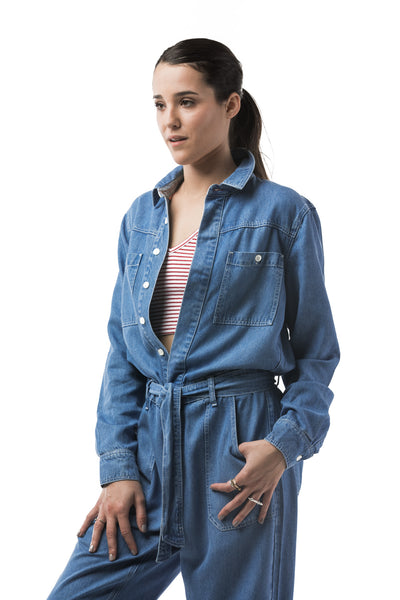 SIDELINE - JULY BOILER SUIT (DENIM)