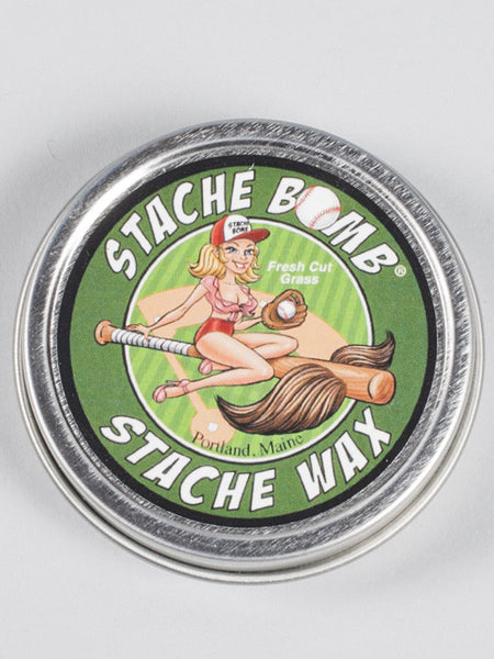 STACHE BOMB - MOUSTACHE WAX - FRESH CUT GRASS