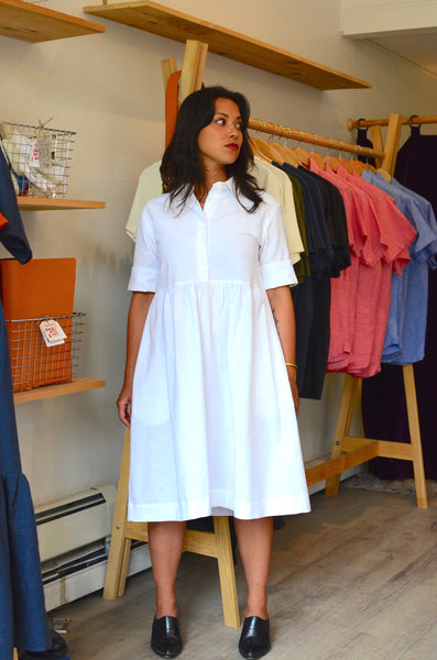 SUMMER BREEZE DRESS - OXFORD WHITE