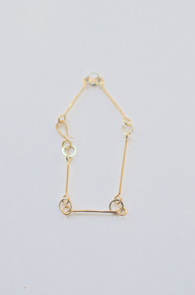 SIMPLY SVEA - HORSEBIT BRACELET (14K GOLD-FILLED / STERLING SILVER / 14K GOLD-FILLED X))