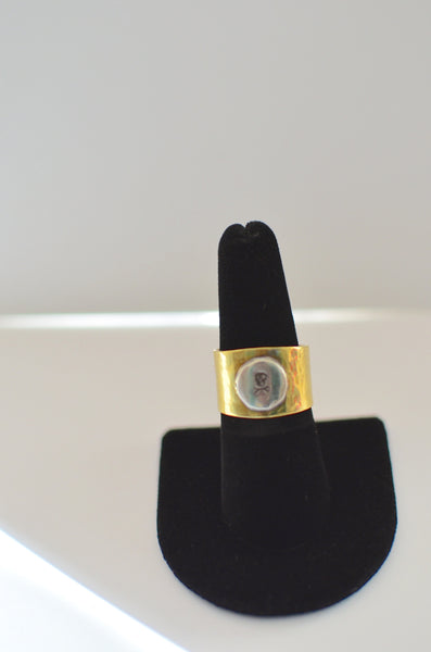 SIMPLY SVEA - TEXTURED BRASS BAND RING