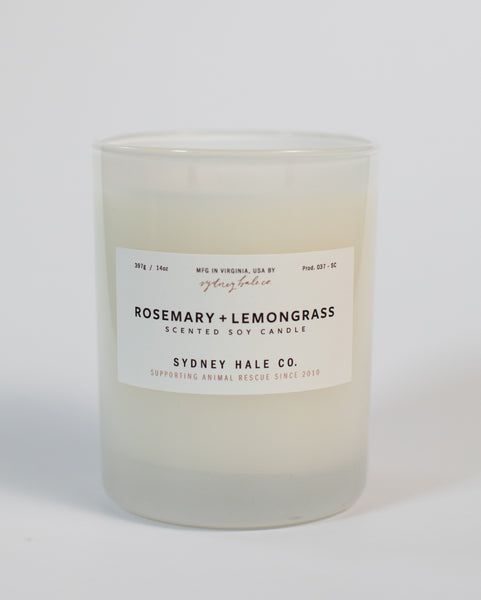 SYDNEY HALE CO. - CANDLE - ROSEMARY + LEMONGRASS
