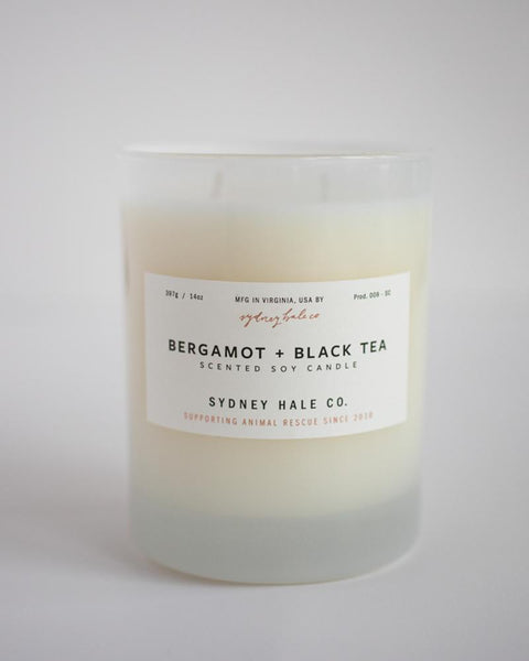 SYDNEY HALE CO. CANDLE - BERGAMOT + BLACK TEA
