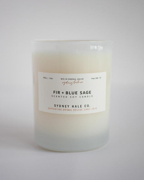 SYDNEY HALE CO. CANDLE - FIR + BLUE SAGE