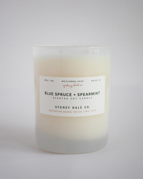 SYDNEY HALE CO. CANDLE - BLUE SPRUCE & SPEARMINT
