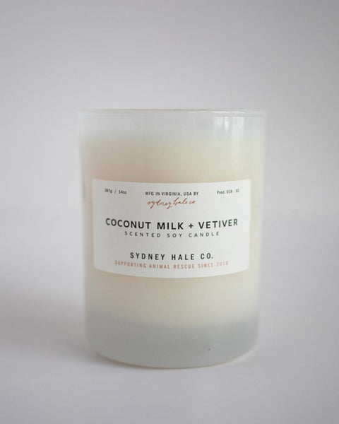 SYDNEY HALE CO. CANDLE - COCONUT MILK AND VETIVER