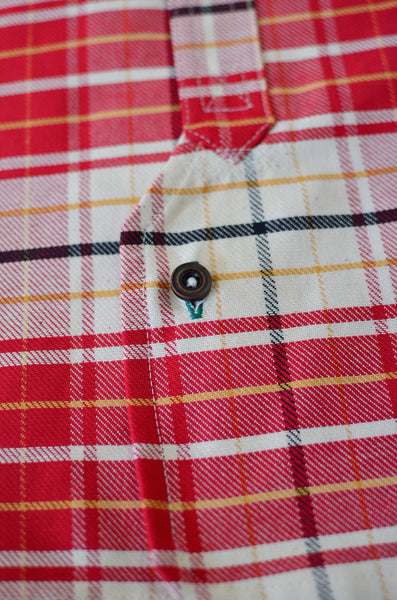 THE QUARTERMASTER SHIRT - RED PLAID (SELVEDGE TWILL)