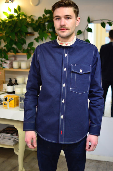 THE ZANZIBAR SHIRT - NAVY / NATURAL (COTTON TWILL / DENIM)